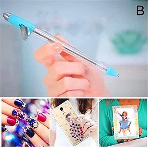 Gelentea Diamant Schilderij Boor Pen, Nail Art Point Boor Pen Strass DIY Schilderij Manicure Gereedschap Draagbaar voor Thuis Vrouwen