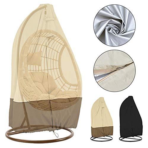 seraphicar Funda para silla de huevo colgante, impermeable, resistente a los rayos UV, para exteriores, con cremallera