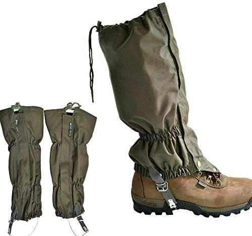Apkaf Snake Gaiters, Snake Bite Protection for Lower Legs, Outdoor Hiking Hunting Snow Sand Waterproof Boots Cover Legging Gaiters Fit for Men & Women, Adjustable Size