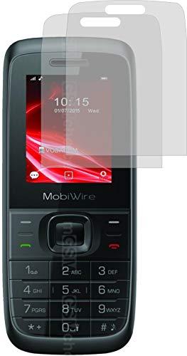 4ProTec I 2X Schutzfolie KLAR passexakt für MobiWire Elki - Displayschutzfolie Schutzhülle