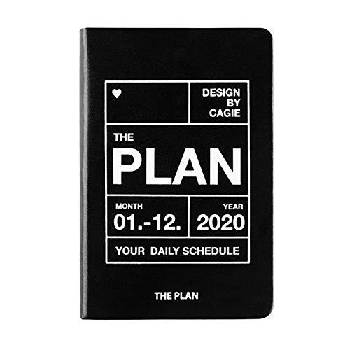 Agenda 2020 Organizer Notitieboekje en tijdschriften Wekelijks Maandelijks Zakelijk Dagelijks Plan Reisnotitieboek A7 Zwart