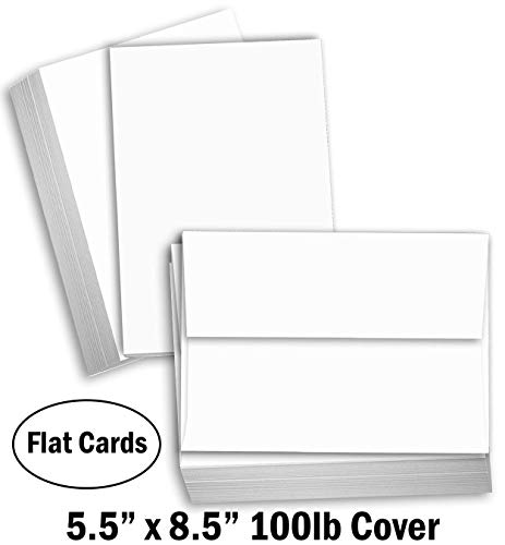 Hamilco White Cardstock Thick Paper - Blank Index Flash Note & Post...
