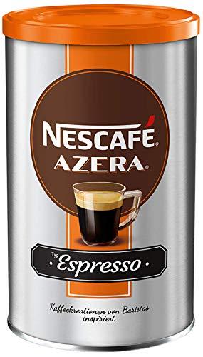 NESCAFÉ AZERA Typ Espresso, hochwertiger Instant Espresso mit feinen Arabica Kaffeebohnen, koffeinhaltig, mit samtiger Crema, 1er Pack (1 x 100g)