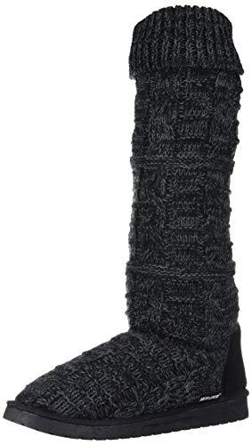 MUK LUKS womens Women's Shelly Fashion Boot, Ebony, 9 US