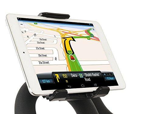 Soporte tablet bicicleta soporte tablet bici soporte tablet bicicleta estatica soporte tablet moto soporte moto tablet sujeción al manillar y espejo válido para todo tipo de tablets y teléfonos negro