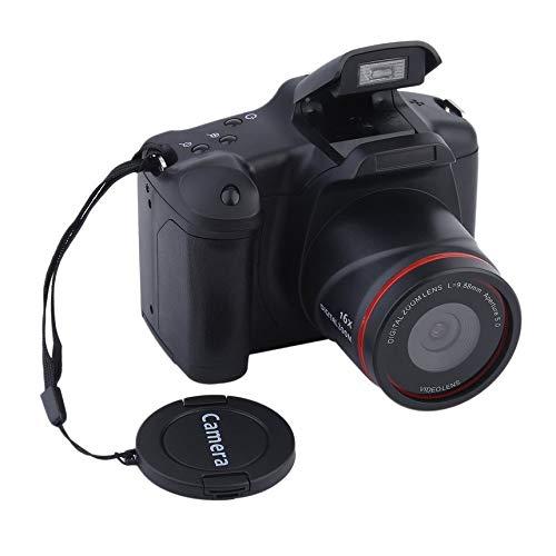 Cámara digital portátil HD con enfoque medio / largo, zoom óptico, cámara réflex CMOS, operación manual, uso doméstico, videocámara DV antivibración - negro