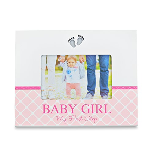 LED baby fotolijst - LED baby fotolijst - baby fotolijst met LED-verlichting voetmotief - baby meisje