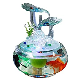 Aquariums Fish Tank Office With LED Color Lighting Fish Tank Transparent Glass Living Room Small Terrariums Decorations Tea Room Furniture