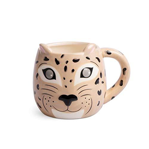 balvi Leopard Cup Tasse mit Tiergesicht Fassungsvermögen: 500 ml Keramik