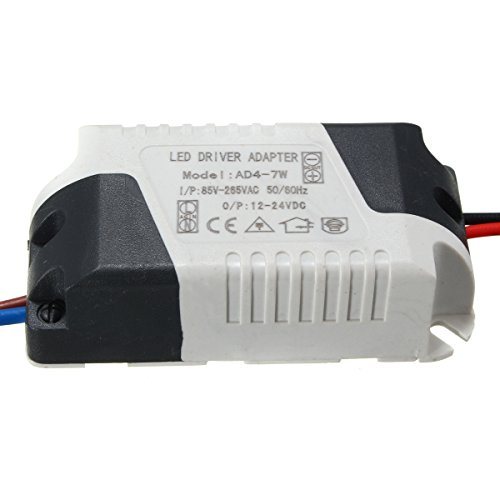 Preisvergleich Produktbild MASUNN AC85-265V Zu DC12-24V 4-7W 300Ma LED Licht Lampe Treiber Adapter Trafo Netzteil