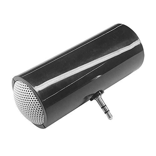 Estéreo Mini Altavoz, Silicona Portátil Altavoz Externo 85 * 30mm, Tableta del Teléfono Móvil del Altavoz Ruidoso Sonido con Conector De 3,5 Mm para La Música (Black)