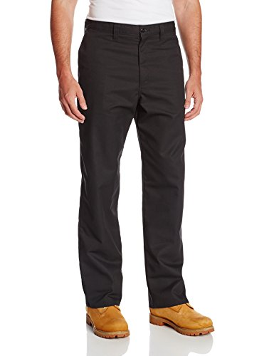 Dickies Occupational Workwear LP812BK 42x30 Polyester/Cotton Relaxed Fit Men's Industrial Flat Front Pant with Straight Leg, 42