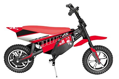 GoSkitz- Dirt 25 Moto Eléctrica para Niños, Color Rojo (Intventia 7182-8)