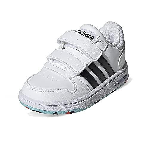 adidas Hoops 2.0 Cmf I, Scarpe da Ginnastica Unisex-Bambini, Multicolore Ftwbla Negbás Naraut, 25 EU