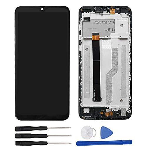 soliocial Completa Pantalla LCD + Táctil Digitalizador Reemplazo para Blackview A60 / A60 Pro 6.1 Inch + Marco Negro