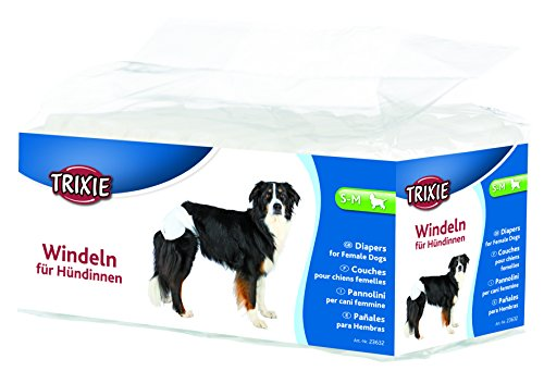 Trixie 23632 Windeln für Hündinnen, S–M: 28–40 cm, 12 St.