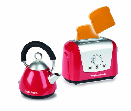 Casdon Morphy Richards Toaster and Kettle Set, Red