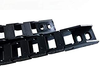 Farleshop 1 st 1 Meter 10x15mm Brug niet openen Plastic Kabel Drag Chain Wire Carrier Met Connectors Tanks Chain (Kleur: R...