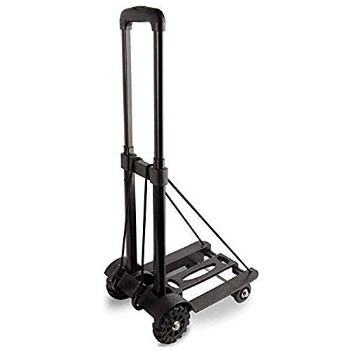 XWX Folding Trolleys Lightweight 4 Wheel Sturdy Multi Purpose Structural Can Be Used For Luggage Personal Travel Mobile Office Use