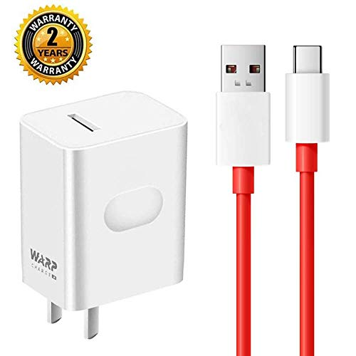 LaoFas OnePlus 7 pro Warp Charger,30W Quick Rapid Charge Power Adapter [5V 6A] + USB-C Fast Charging Data Cable(3.3FT Compatible with OnePlus 3 /3T/5 / 5T / 6 / 6T/ 7 Pro (red)