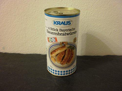 4 Stück Bayerische Bauernbratwurst vom Metzger keine Industrieware Konserven