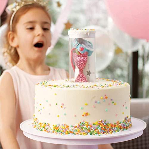 LYPXX Surprise Cake Popping Stand, Musical Popping Tortenständer, Überraschung in Der Torte, Happy Birthday Cake Holder, Popping 2-in-1 Cake Stand, Kuchen Spray Booth Trigger Cakes Tool