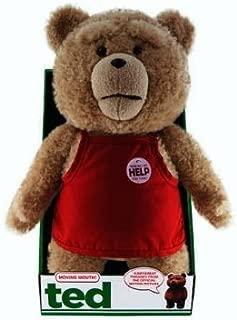テッド テディベア 口が動くおしゃべりぬいぐるみ 「クリーントーキング版(通常版)」 16インチ 業務用エプロン バージョン Ted 16-Inch Talking Plush Teddy Bear with Moving Mouth work apron 米国正規公式ライセンス品 並行輸入品