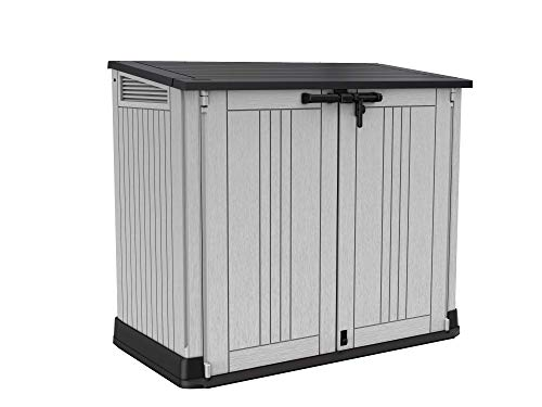 Keter Store it Out Nova Outdoor Garden Storage Shed, 32 x 71.5 x 113.5 cm, Light Grey with Dark Grey Lid