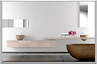 Espejo calefactor por infrarrojos 700W (120x 60cm) como Diseño de infrarrojos Cristal Radiador/calefacción por infrarrojos con 10mm marco de aluminio de cristal de seguridad. Salpicaduras–nie wieder beschlagene cuarto de baño espejo.