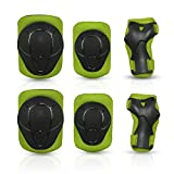 Protective Gear for Kids, Knee Pads Elbow Pads Wrist Guards Protective Pad Set for Bike Rollerblade...