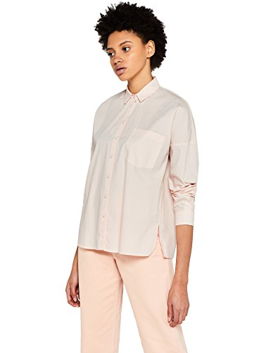 Amazon-Marke: find. Hemd Damen in Boyfriend-Design mit Kent-Kragen, Rosa (Pale Pink), 42, Label: XL
