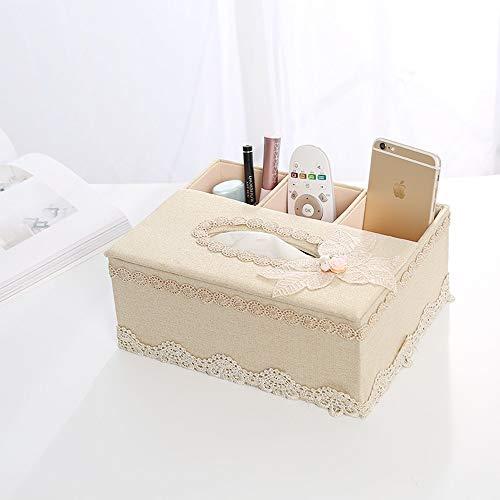 JJSFJH Cubierta de Caja de Tejido Rectangular de Perfume Creativo, toallero de Toalla de Papel de baño Decorativo, Deslizador Inferior (Color : T)