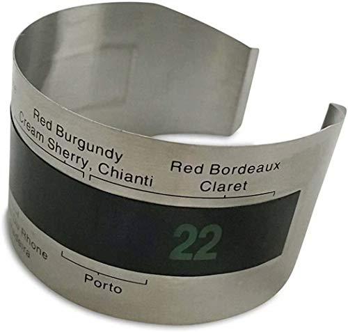 Chasiroma Weinflaschen-Thermometer, großes Display, Flüssigkeitskristall-Armband, sofortiges Ablesen von Rotwein, Starterwerkzeug