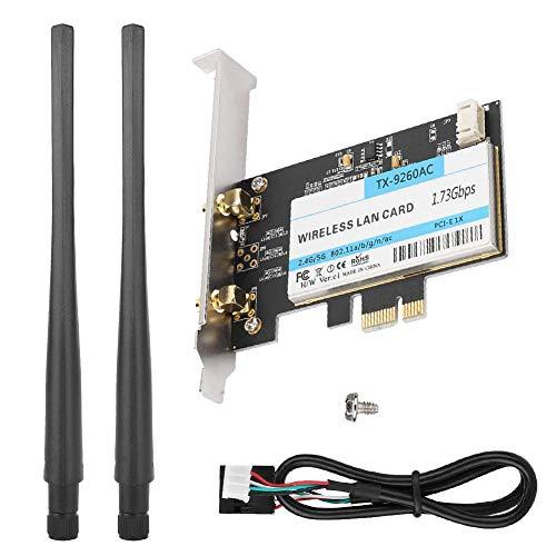 Dual-band netwerkkaart PCIE high speed netwerkkaart 1.73G + Bluetooth 5.0 PCIE draadloze kaart voor desktop
