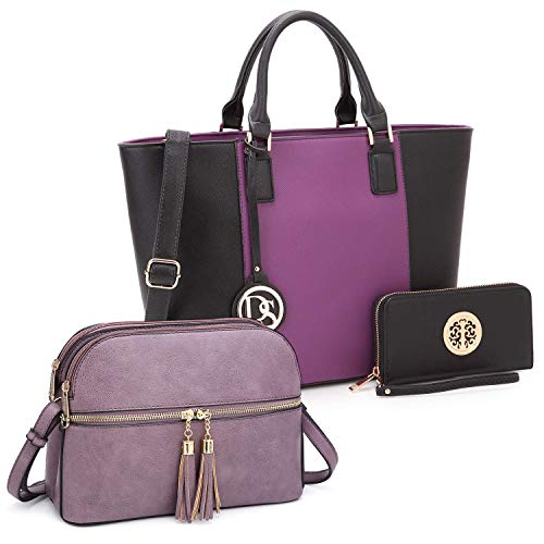 Dasein Handbags Bundle Tote Bag with matching wallet and Crossbody