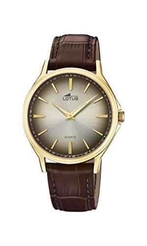Lotus Watches Reloj Análogo clásico para Hombre de Cuarzo con Correa en Cuero 18517/2