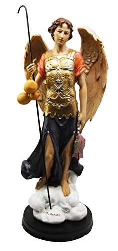 Gifts & Decor 33cm Großen Heiler Erzengel Raphael mit Staff Deko Figur