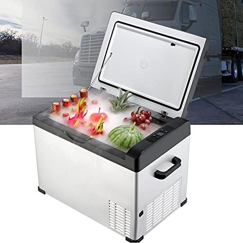 Wanjun Refrigerador Portátil para Automóvil, Congelador De Compresor, Refrigerador De Gran Capacidad 25/30/40 / 50L, para Automóvil/Camión,30L