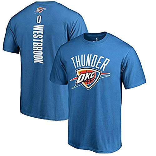 Zxwzzz Camiseta De Baloncesto De La NBA for Hombre New Age, Oklahoma City Thunder Team Jersey, Camiseta De Manga Corta De Tejido De Poliéster (Color : Blue, Size : 3X-Large)