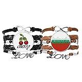 Bestchong Lot de 2 bracelets en cuir avec drapeau du pays de