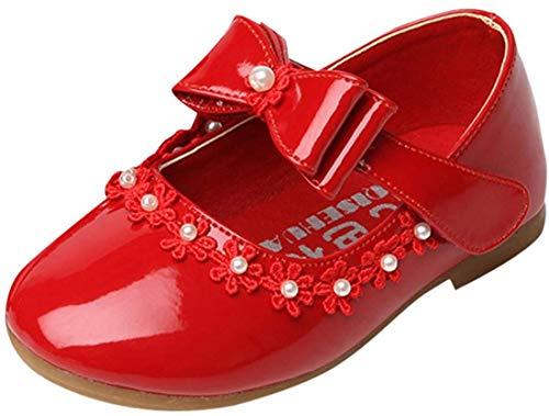 Lopetve Mädchen Prinzessin Schuhe Kostüm Ballerina Ballerina Shuhe Festliche Mädchenschuhe Taufschuhe Schuhe Rot 29