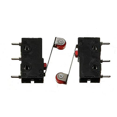 SHANG-JUN Fácil de Montar Final de Carrera de Micro con el Rodillo de la Palanca KW12-3 de Apertura/Cierre del Interruptor 5A 125V (200Pcs) Conveniente