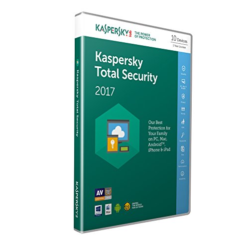 Kaspersky Total Security 2017 - 10 Devices, 1 Year, Retail Box (PC/Mac/Android)