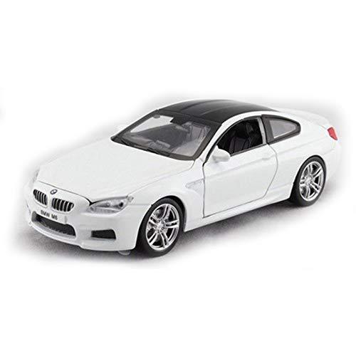 NMBE para BMW M6 1:32 Coche De Metal Blanco (luz con Voz) Modelo De Auto