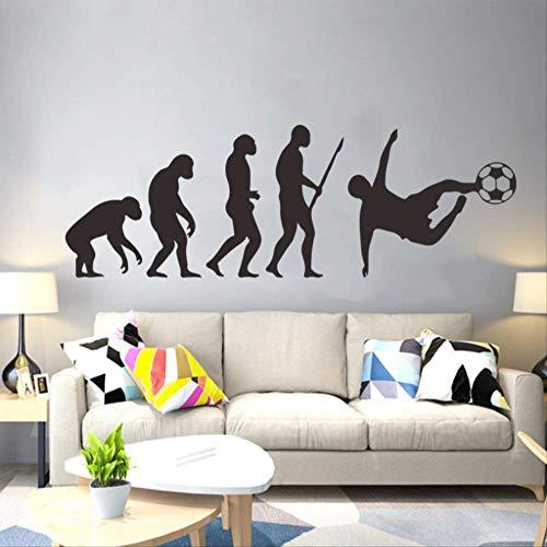 Stickers Muraux Creative Human Evolution Football Pvc Vinyle Home Decor Pour Chambre D'Enfants Primitive À Personnes Moderne Stickers Muraux