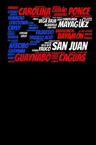 『Puerto Rico Flag with City Names San Juan Word: Composition Book Journal (6 x 9) Boricua Notes Puerto Rico Flag (Puerto Rico Notebooks)』のトップ画像