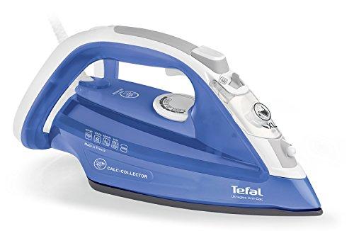 Tefal FV4944 Stoomstrijkijzer, ultralliss, anti-kalk, uitneembaar anti-kalk-collector, kleur strijkijzer, blauw/wit [oud model]