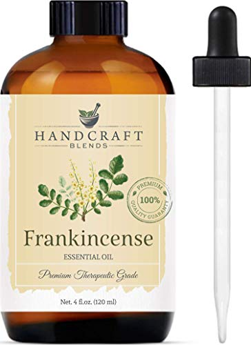 Handcraft Frankincense Essential Oil - 100% Pure and Natural - Premium Therapeutic Grade with Premium Glass Dropper - Huge 4 fl. oz