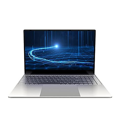 Festnight Ordenador portátil de Oficina de Negocios portátil de 15,6 Pulgadas con procesador Intel Celeron J4125 8 GB + 256 GB de Memoria 1920 * 1080 Pantalla IPS Enchufe de la UE