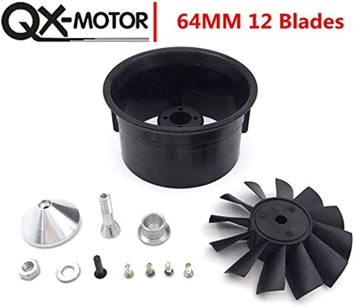 Laliva 64mm EDF with 12 Blades Ducted Fan Without Motor Suit for RC Airplanes